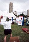 Myk trying to be a QB at NFL Pro Bowl!